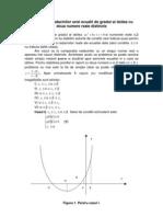Pozitia radacinilor ecuatiei de gradul II in raport cu un interval