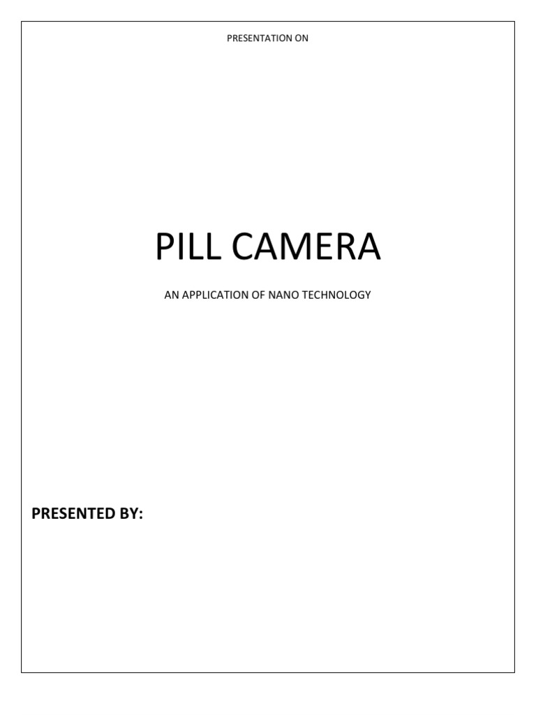 PILL CAMERA Ppt Seminars