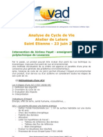 Analyse de Cycle de Vie _ Atelier Latere