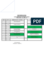 Copy of End Term - Time Table
