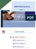OMF010002 Handover ISSUE1.5