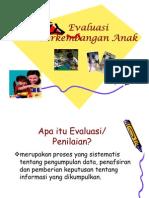 Evaluasi Perkembangan Anak