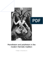 Monotheism and Polytheism in the Modern Hermetic Tradition