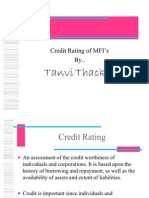 Credit Rating of Mfis