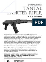 Tantal Sporter, AK-74 Rifle, Owners Manual