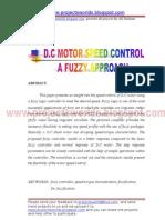 Dc Motor Speed Control a Fuzzy Approach - EEE
