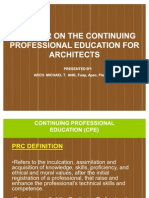 A Primer on the Continuing Professional Education (2)