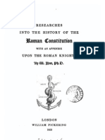 Researches in to the History of the Roman Constitution