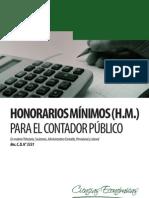 Honorarios Mínimos para el Contador Público - Provincia de Buenos Aires