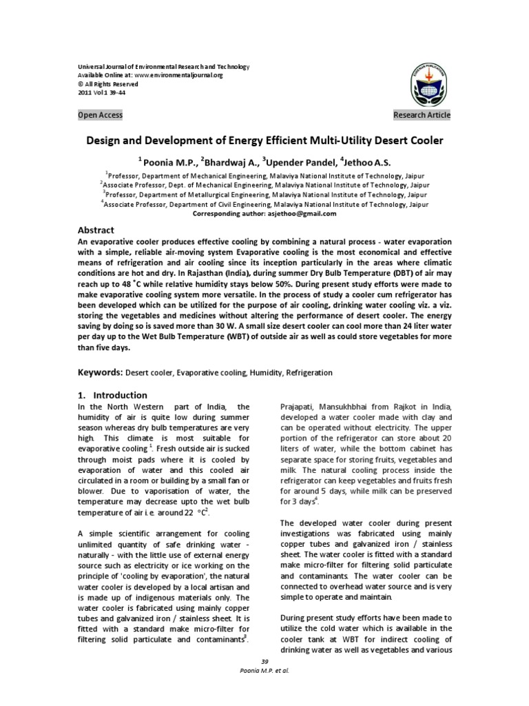 Design and Development of Energy Efficient Multi-Utility