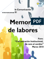Comunicacion Institucional de Cara Al Cambio