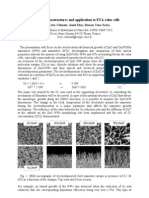1-D ZnO Nano Structures and Application to ETA-Solar Cells