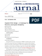 Hospital HVAC Design a Challenge for IAQ, Energy Recovery and System Reliability - Issue Jul-Sep 2002
