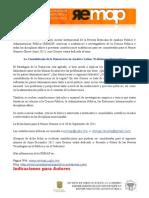 Convocatoria Revista Mexicana de Análisis Político 2011