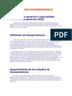 ESTUDIOS DE BIOEQUIVALENCIA