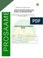 Modelo de Tipificación de Agencias Agrarias
