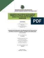 Lineamientos Para Evaluacion de Carreras Fcc.ee.