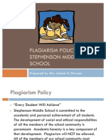 Plagiarism SMS Policy
