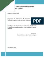 Propuesta de delimitación de funciones sectoriales nacionales a partir de los servicios públicos agrarios