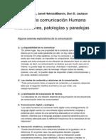 Watzlawick - Teoría de la comunicación humana - axiomas EPSS3