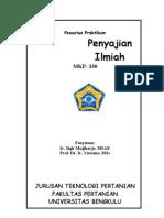 Praktikum Penyajian Ilmiah 2011a