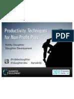 Productivity Techniques for Non-Profit Pros