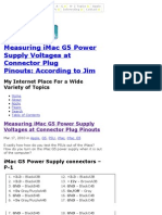 How to Measure iMac G5 Power Supply Voltages at Pinouts of PSU | According to Jim