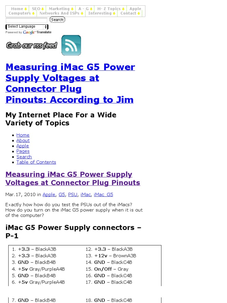 How to Measure iMac G5 Power Supply Voltages at Pinouts of PSU ...