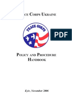 Peace Corps Policy and Procedure Handbook - In Country Employee Manual