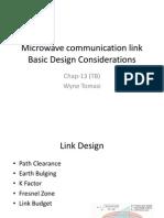 Microwave Communication Link Basic Design Considerations