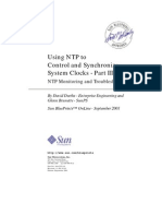 Sun Blueprints (816-2353) - Using NTP to Control and Synchronize System Clocks - Part III, NTP Monitoring