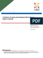 MBTI - Explication des types psychologiques