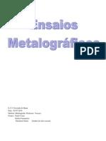 Ensaios Metalográficos