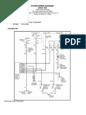 1985 Honda Prelude Wiring Diagram