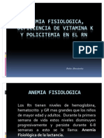 Anemia Fisiologica y Policitemia