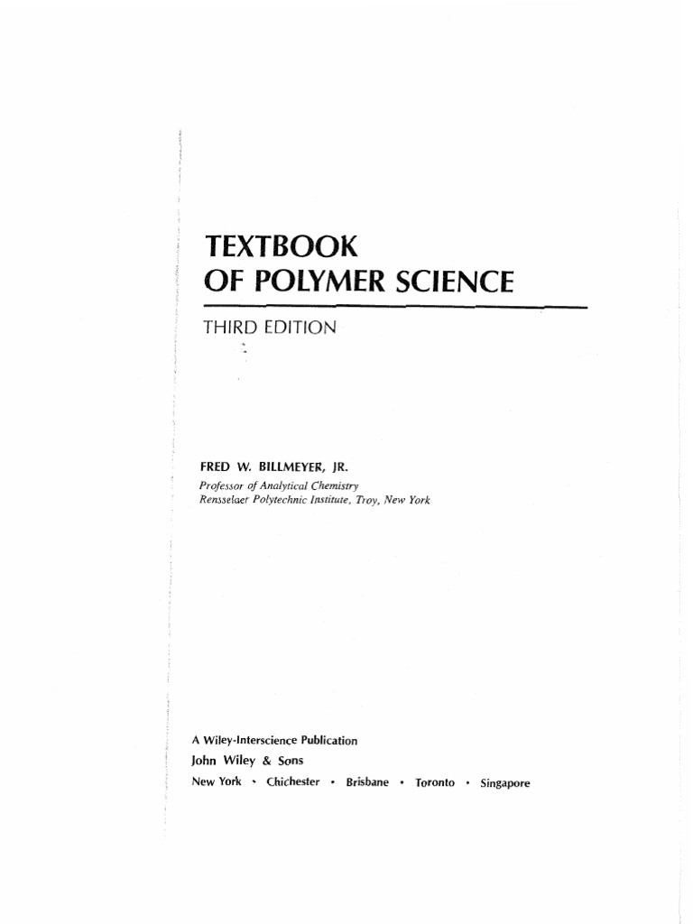 Textbook of polymer science intermolecular force polymers fandeluxe
