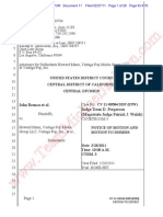 Notice of Motion and Motion to dismiss