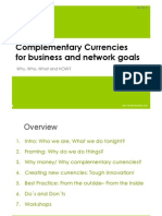 Complementary Currencies for Business and Network Goals - Igor and Leander