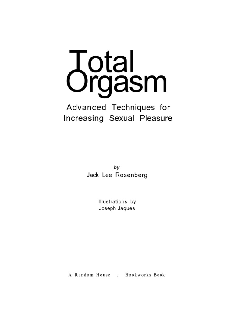 Techniques for orgasm