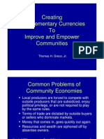 Thomas H. Greco, Jr. - Creating Complementary Currencies to Improve and Empower Communities