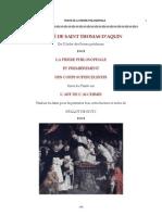 TRAITÉ DE SAINT THOMAS D'AQUIN