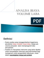 Analisa Biaya Volume Laba