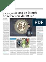 Que Es La Tasa de Interes de Refer en CIA Del BCR