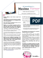 10 questions à Maxime Verner