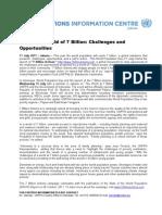 PRESS Release UNFPA Living in a World of 7 Billion