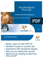 Psychological First Aid 2010