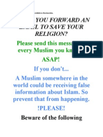 Could You Forward an Email to Save Your Religion