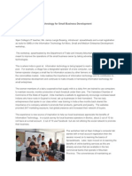 Exploring Information Technology for Small Business Development 1