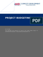 Project Budgeting Hand Out