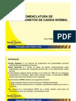 Quimica Organica-Nomenclatura de Hidrocarbonetos Nao Ramificados